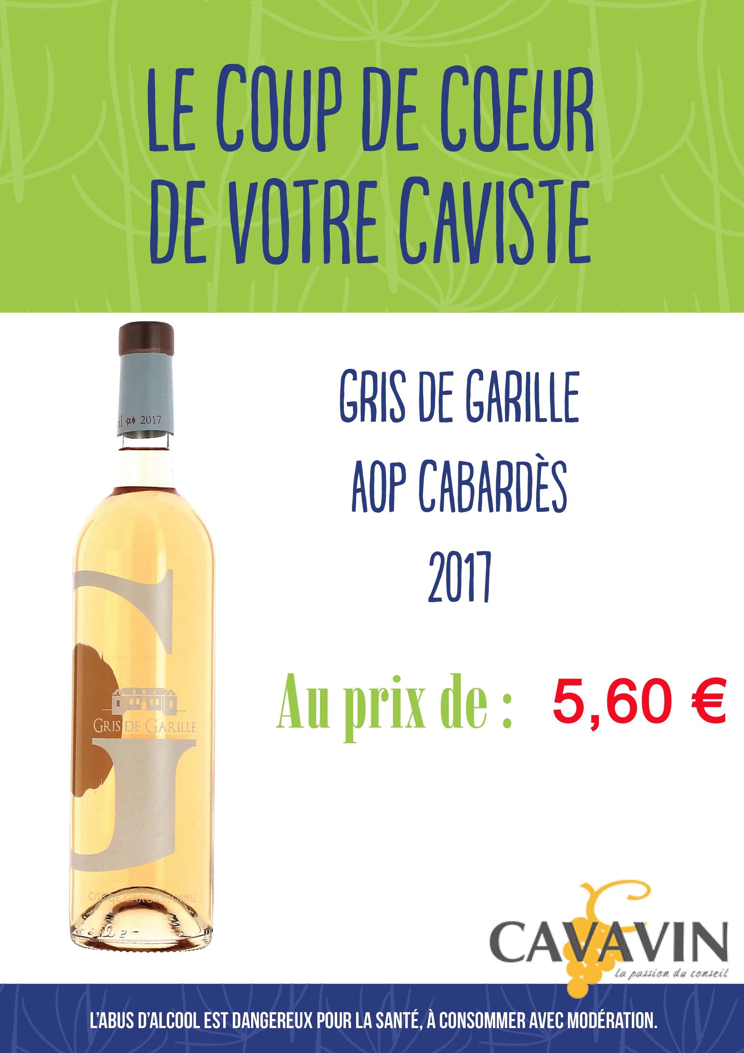 GRIS DE GARILLE 2017 IGP CITE DE CARCASSONNE