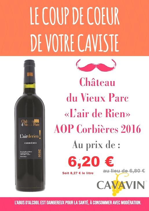 L'AIR DE RIEN 2016 – Corbières rouge AOP